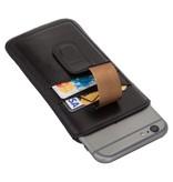 Bouletta Bouletta - iPhone 6(S)/7/8 Insteekhoesje met vakjes (Rustic Black)