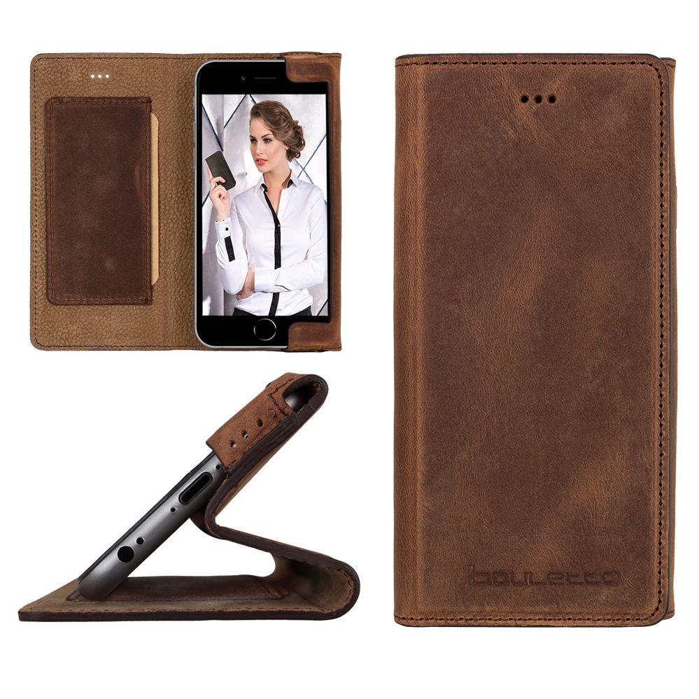 Bouletta Bouletta - iPhone 6(S) HalfWay BookCase (Antic Coffee)