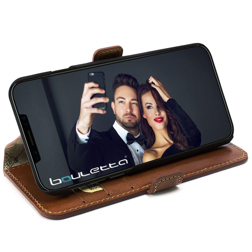 Bouletta Bouletta - iPhone Xs / X BookCase (Burned Cognac)