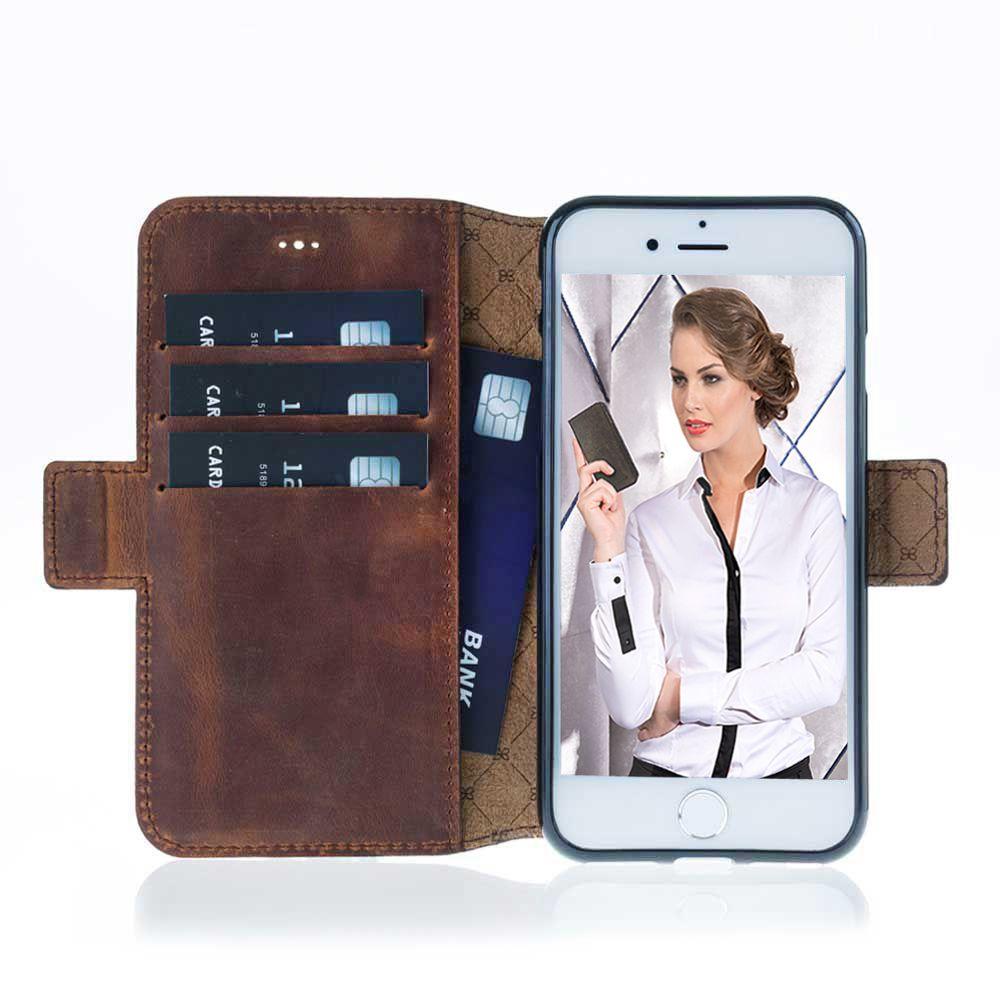 Bouletta Bouletta - Apple iPhone 7 Plus BookCase N.E. (Antic Coffee)