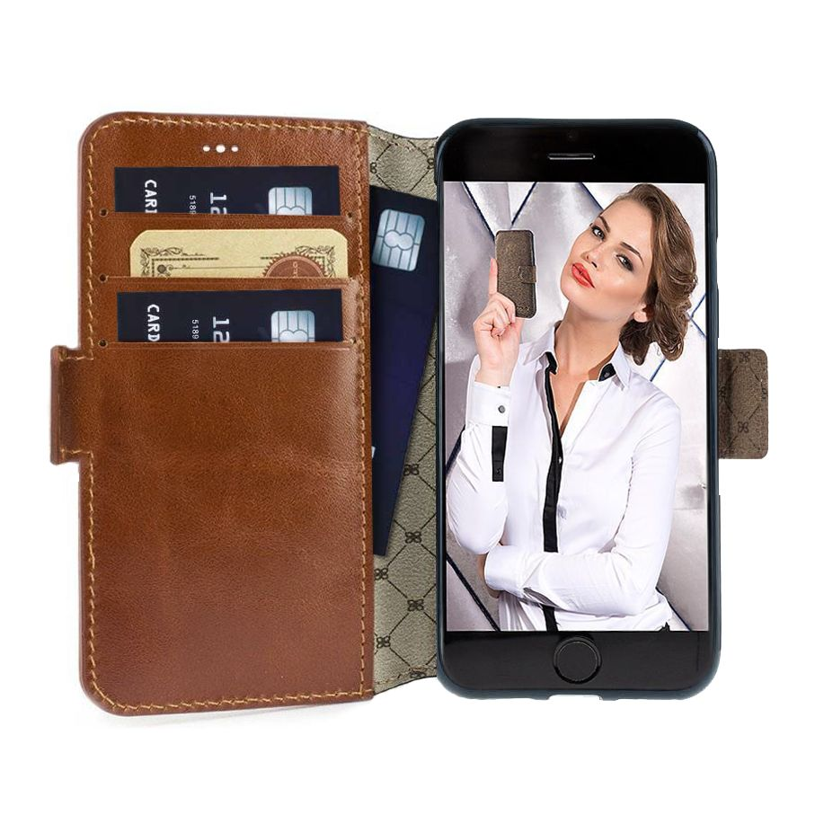 Bouletta Bouletta - Apple iPhone 7 Plus BookCase N.E. (Rustic Cognac)