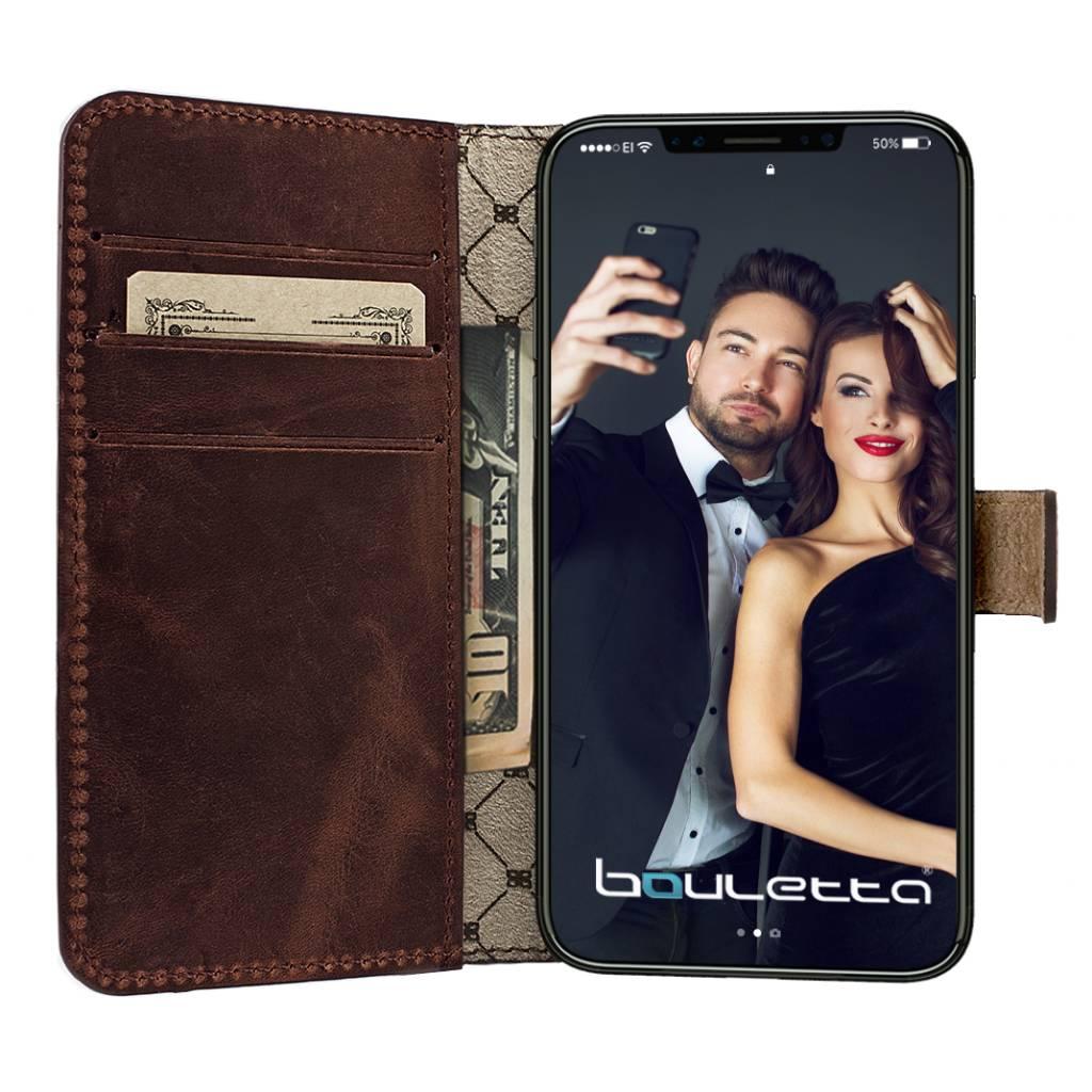 Bouletta iPhone Xs / X BookCase - Antic Coffee (Classic)