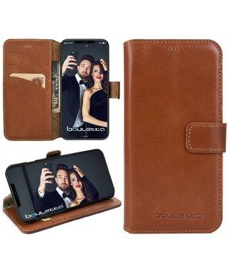 Bouletta iPhone Xs / X WalletCase - Rustic Cognac (Classic)