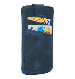Bouletta Bouletta - iPhone Xs / X Insteekhoes met vakjes (Antic Blue)