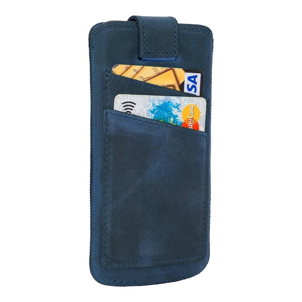 Bouletta Bouletta - iPhone Xs / X Insteekhoesje met vakjes (Antic Blue)