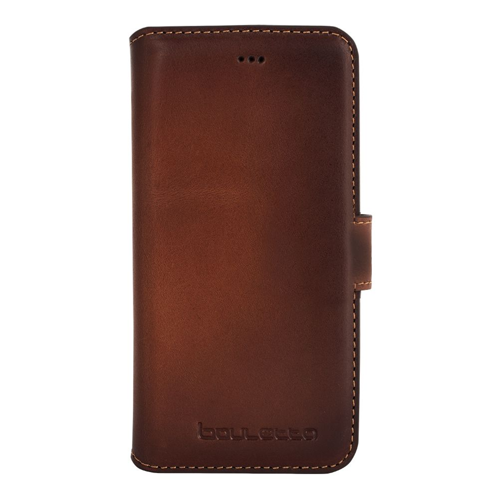 Bouletta Bouletta - iPhone 8 Book Case (Burned Cognac)