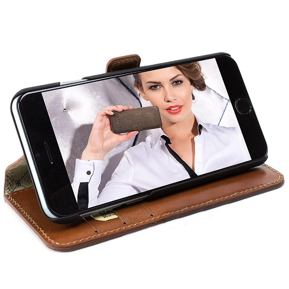 Bouletta Bouletta - Apple iPhone 8 Plus Wallet Case (Burned Cognac)