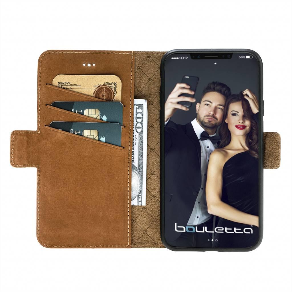 Bouletta Bouletta - iPhone Xs / X BookCase (Nubuck Tan)