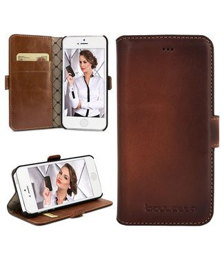 Bouletta Bouletta - iPhone 5(S) & SE WalletCase N.E. (Burned Cognac)
