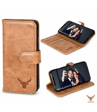 Gazzi Gazzi iPhone Xs / X BookCase 'Retro Cognac'