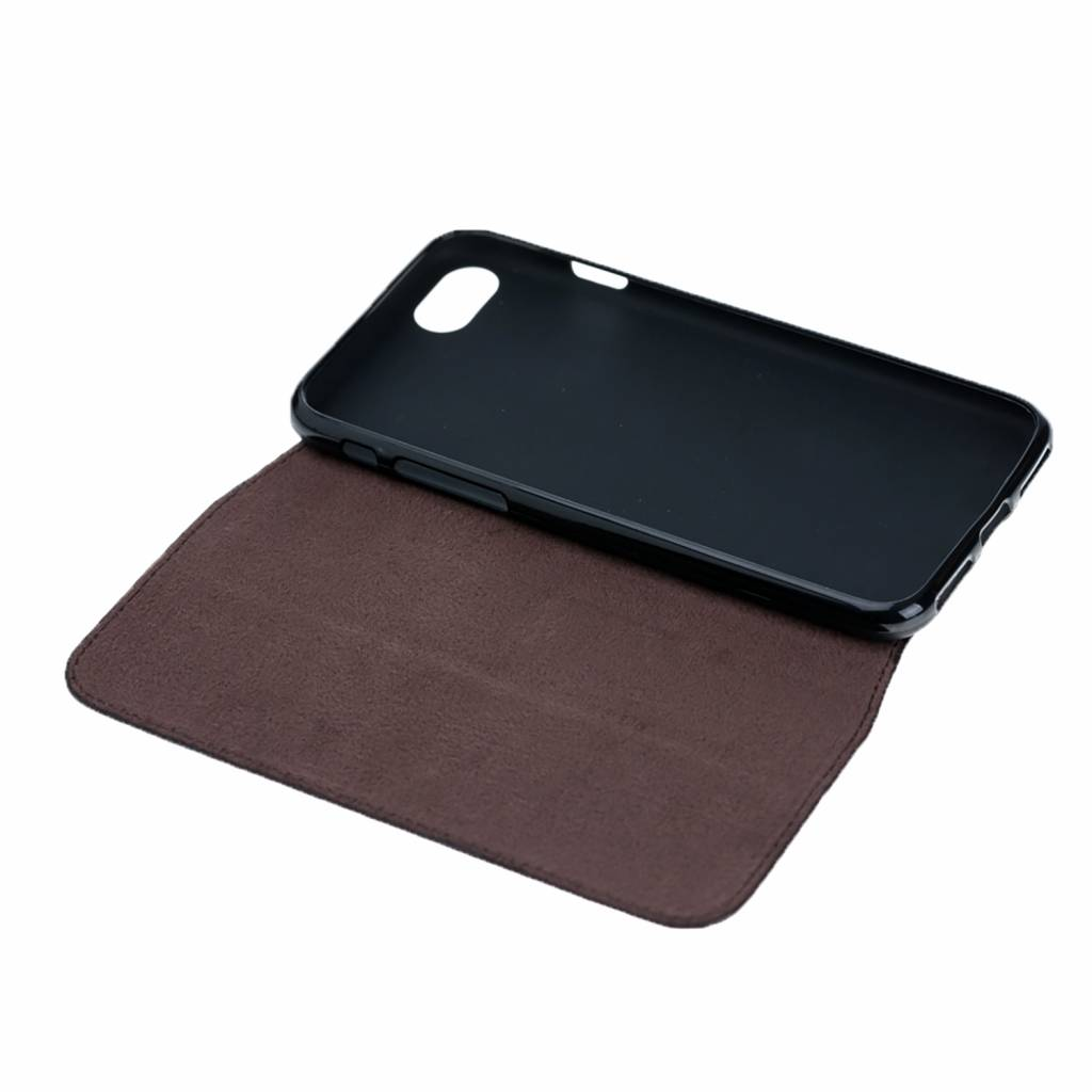 HardystoN HardystoN - iPhone 7/8 Plus Magnetic Console BookCase 'Floater Brown'