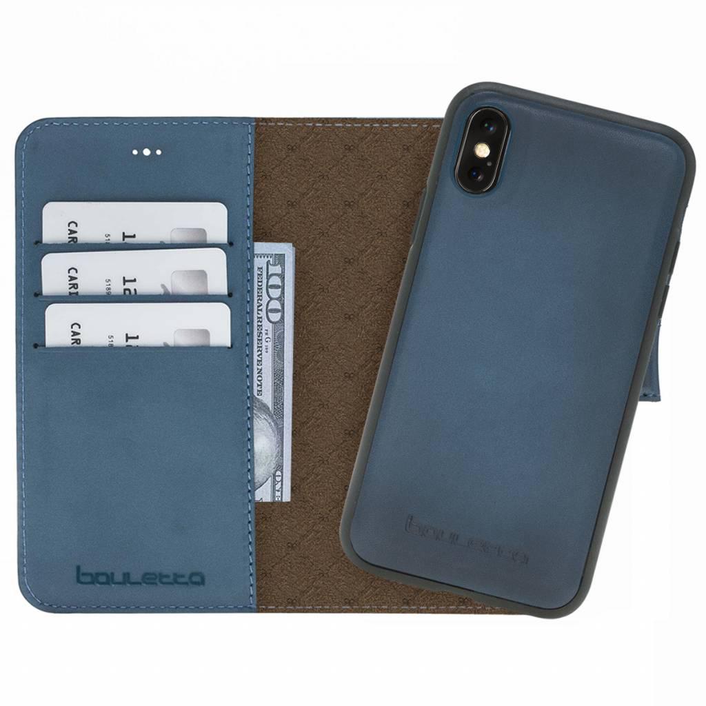Bouletta Bouletta - iPhone Xs Max 2-in-1 Afneembare BookCase (Dark Blue)