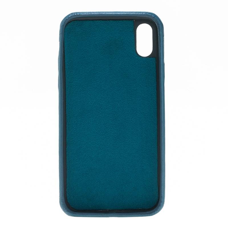 Bouletta Bouletta iPhone Xs Max BackCover met vakjes (Midnight Blue)