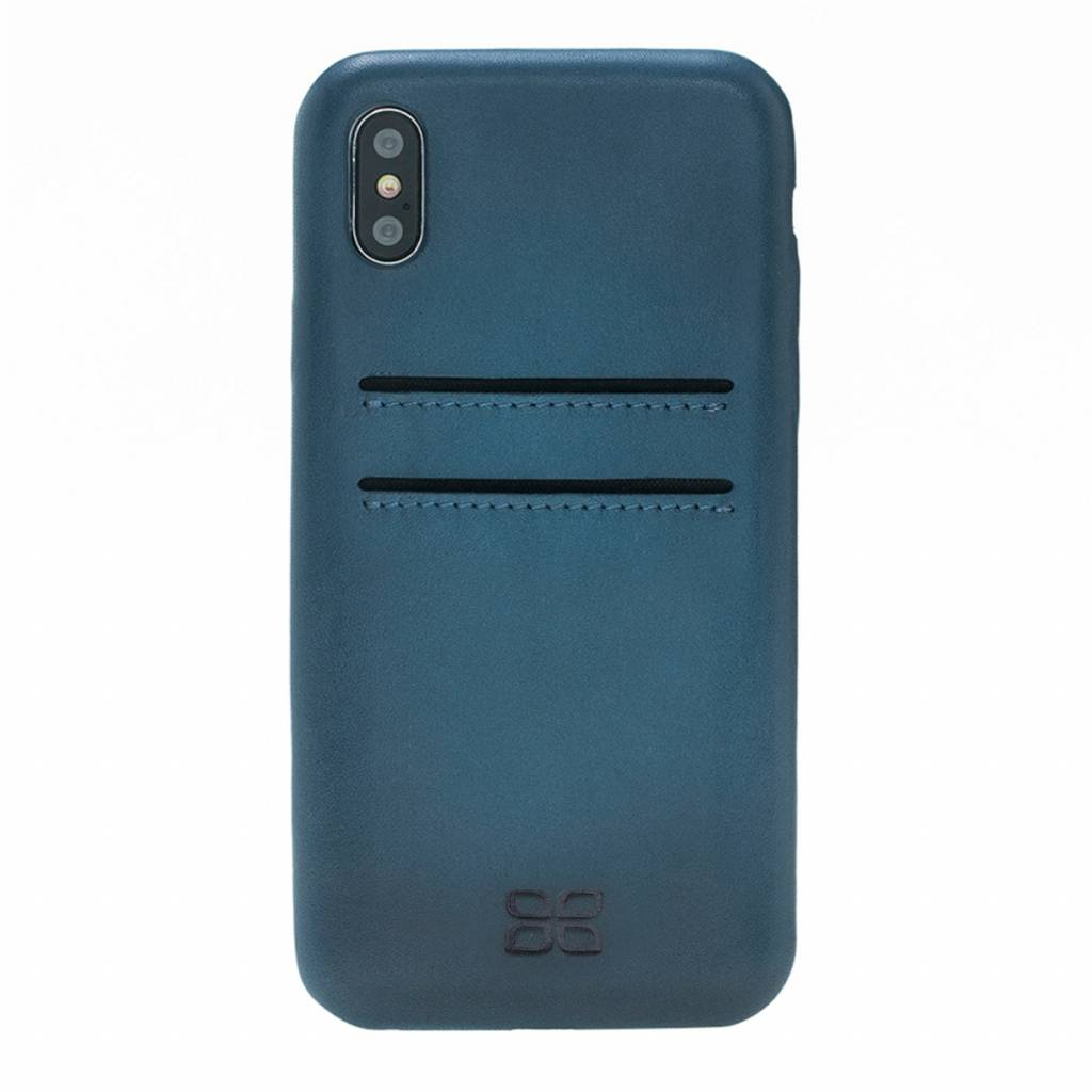 Bouletta Bouletta iPhone Xs Max BackCover met vakjes (Midnight Blue)
