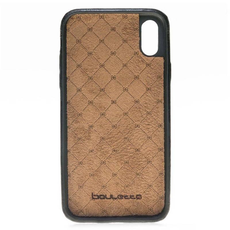 Bouletta Bouletta iPhone Xs Max BackCover met vakjes (Rustic Black)