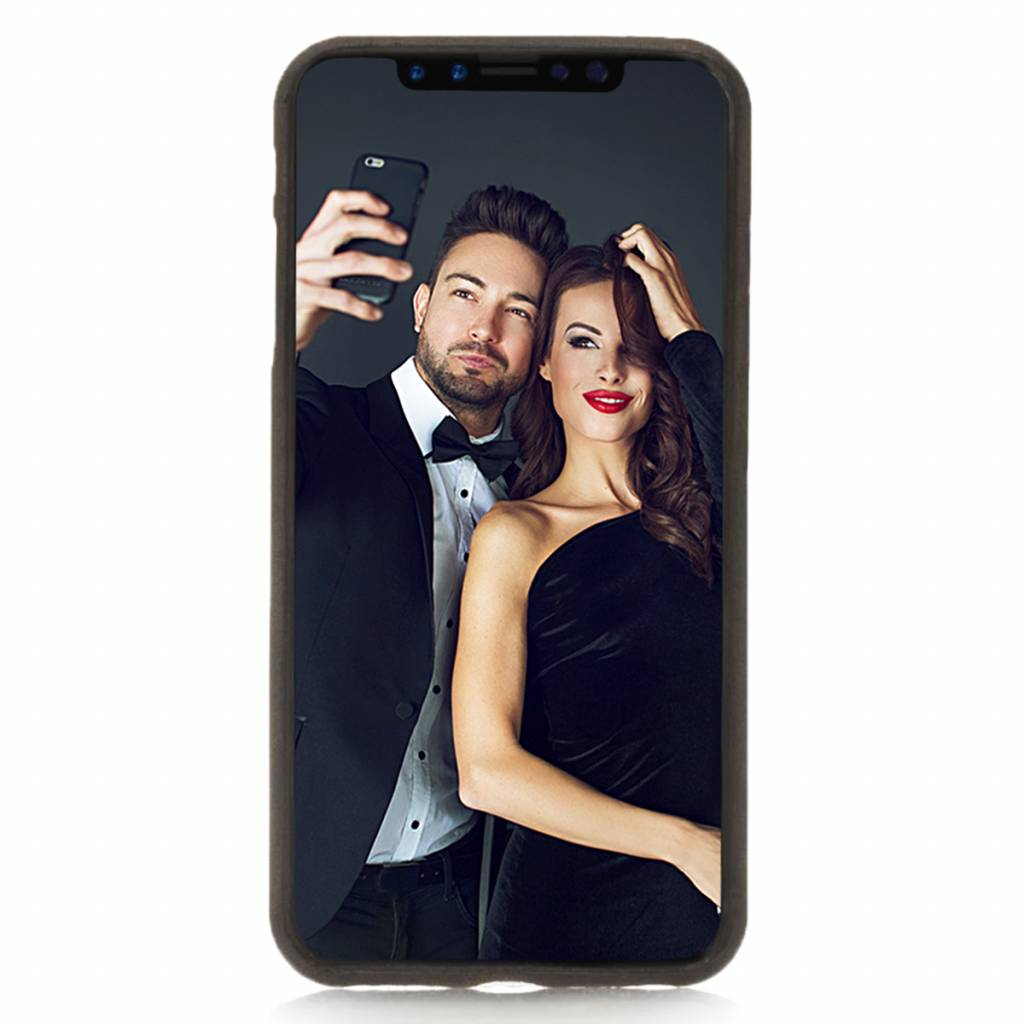 Bouletta Bouletta iPhone Xs Max BackCover met vakjes (Antic Coffee)