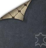 Bouletta Bouletta - iPhone Xs Max Insteekhoes met vakjes (Antic Blue)