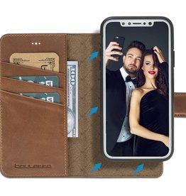 Bouletta Bouletta - iPhone Xs 2-in-1 Afneembare BookCase (Burned Cognac)