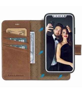 Bouletta Bouletta - iPhone Xs 2-in-1 Abnehmbare BookCase (Burned Cognac)