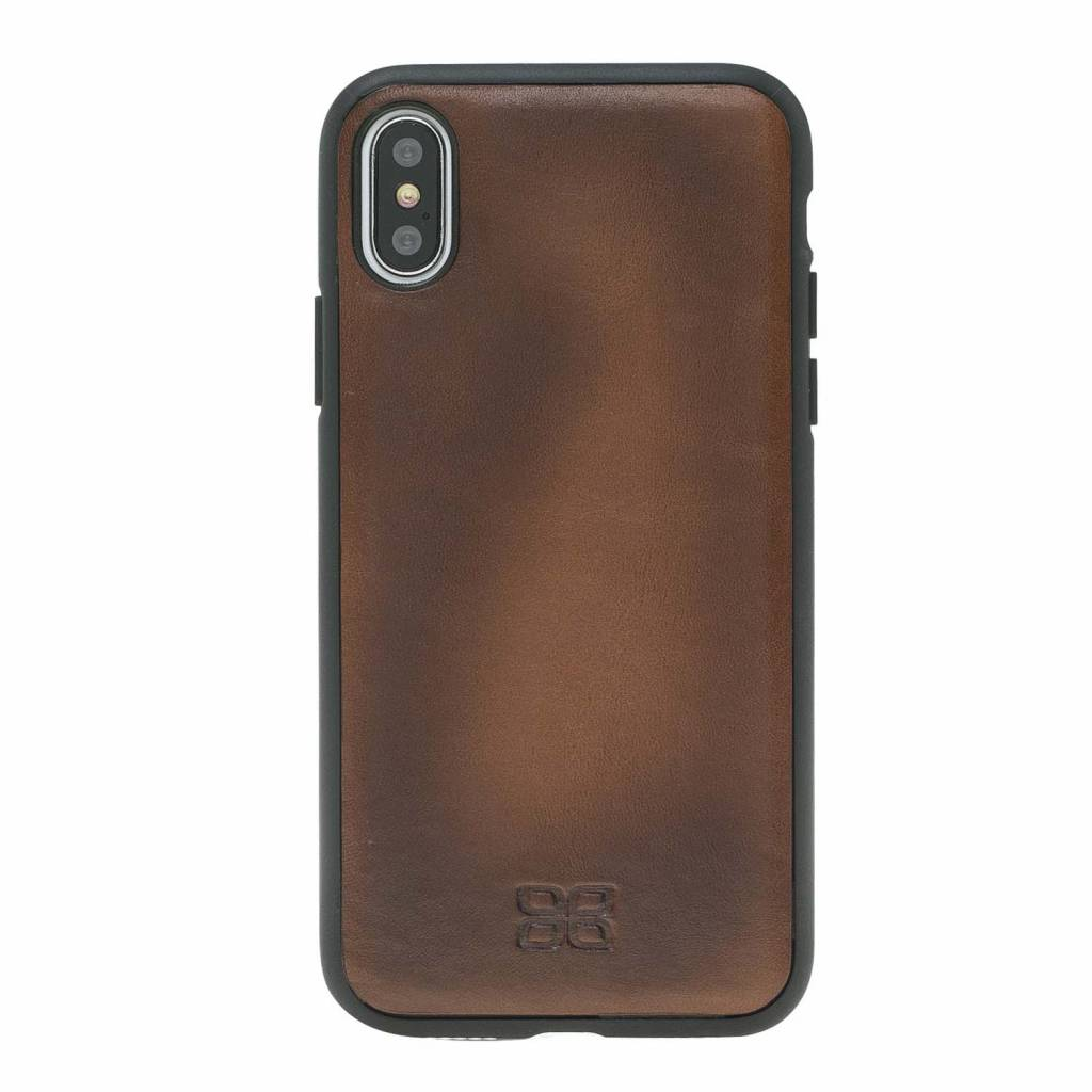 Bouletta Bouletta - iPhone Xs 2-in-1 Afneembare BookCase (Burned Cognac)