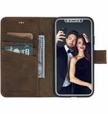 Bouletta Bouletta - iPhone Xs 2-in-1 Afneembare BookCase (Antic Coffee)