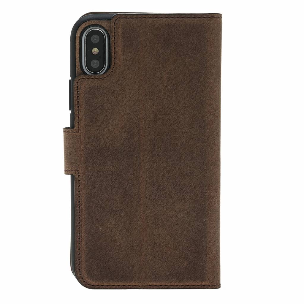 Bouletta Bouletta - iPhone Xs 2-in-1 Afneembare BookCase (Antic Coffee)