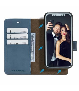 Bouletta Bouletta - iPhone Xs 2-in-1 Afneembare BookCase (Dark Blue)