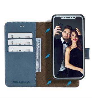 Bouletta Bouletta - iPhone Xs 2-in-1 Detachable BookCase (Dark Blue)