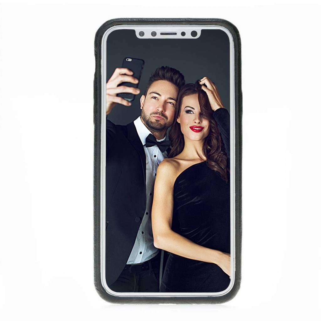 Bouletta Bouletta iPhone Xs BackCover met vakjes (Rustic Black)