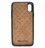 Bouletta Bouletta iPhone Xs BackCover met vakjes (Rustic Black)
