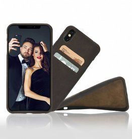Bouletta Bouletta iPhone Xs BackCover met vakjes (Antic Coffee)