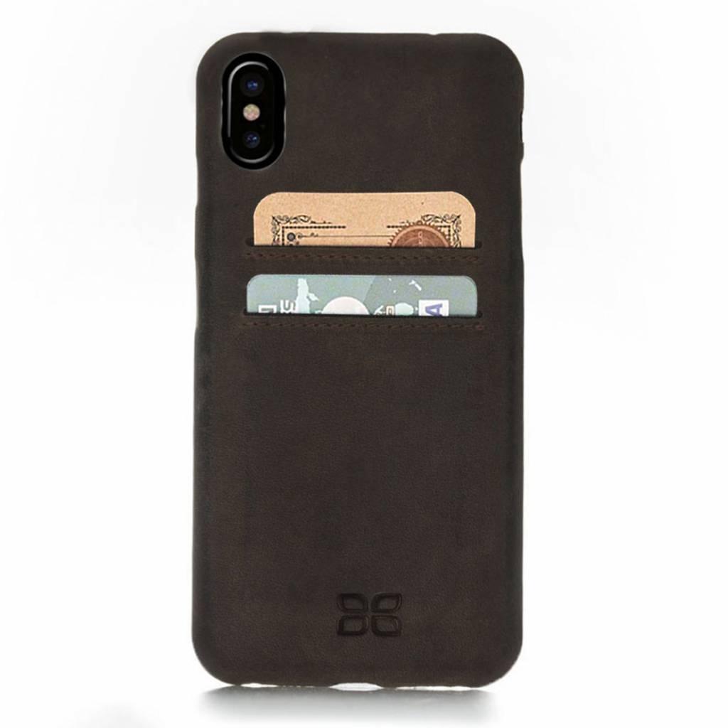 Bouletta Bouletta iPhone Xs BackCover met vakjes (Antic Coffee)