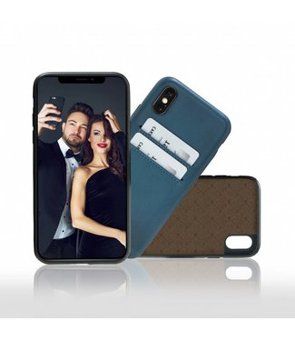 Bouletta Bouletta iPhone Xs BackCover met vakjes (Dark Blue)