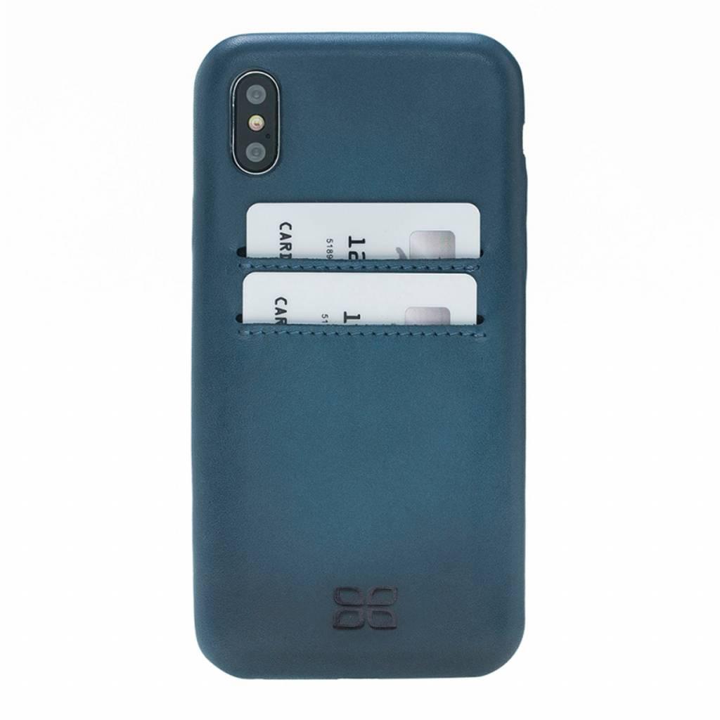 Bouletta Bouletta iPhone Xs BackCover met vakjes (Dark Blue)