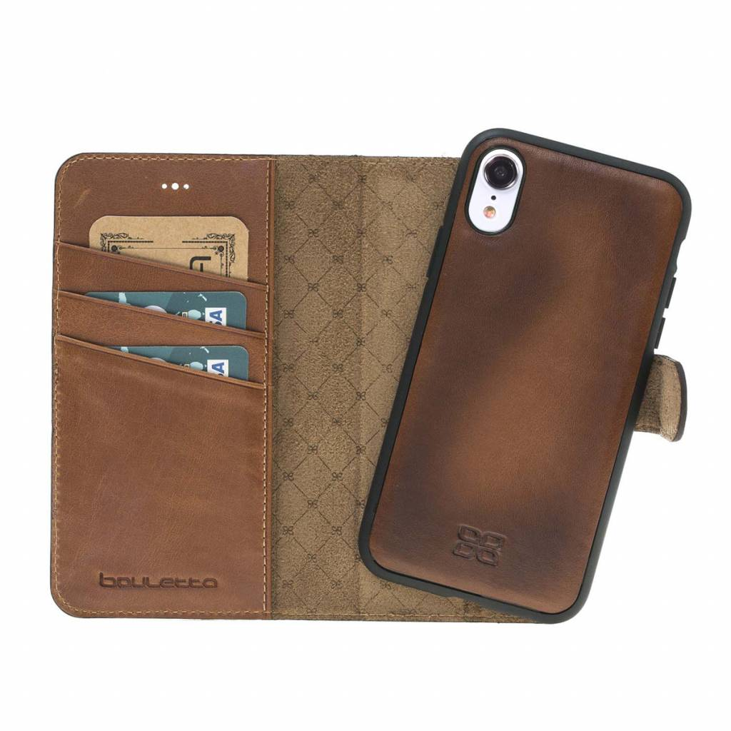 Bouletta Bouletta - iPhone Xr 2-in-1 Afneembare BookCase (Burned Cognac)