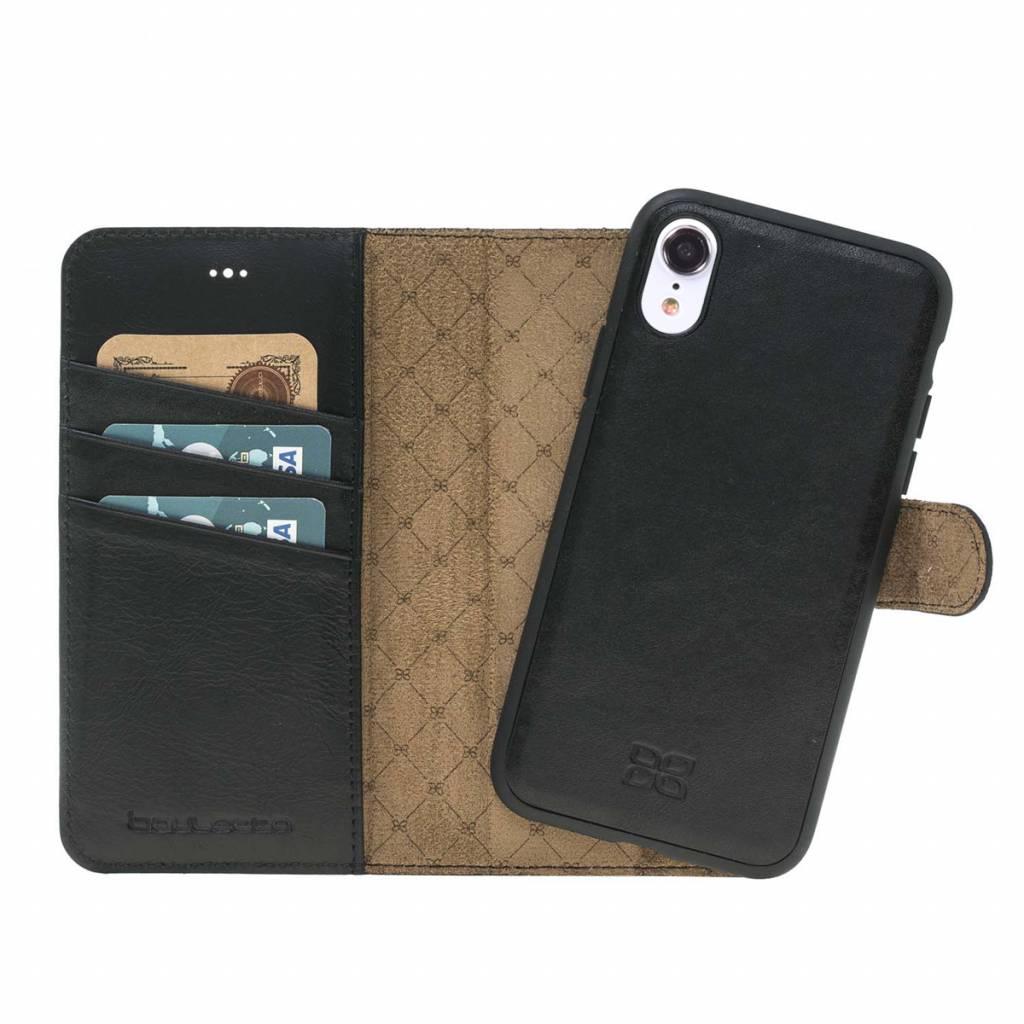 Bouletta Bouletta - iPhone Xr 2-in-1 Afneembare BookCase (Rustic Black)