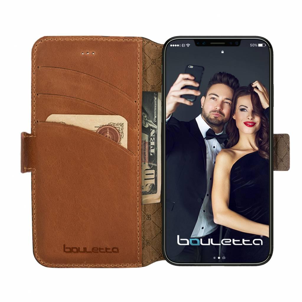 Bouletta Bouletta - iPhone Xr BookCase (Rustic Cognac)