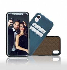 Bouletta Bouletta iPhone Xr BackCover met vakjes (Dark Blue)