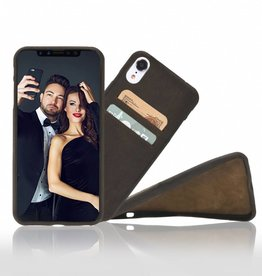 Bouletta Bouletta iPhone Xr BackCover met vakjes (Antic Coffee)
