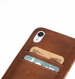 Bouletta Bouletta iPhone Xr BackCover met vakjes (Burned Cognac)