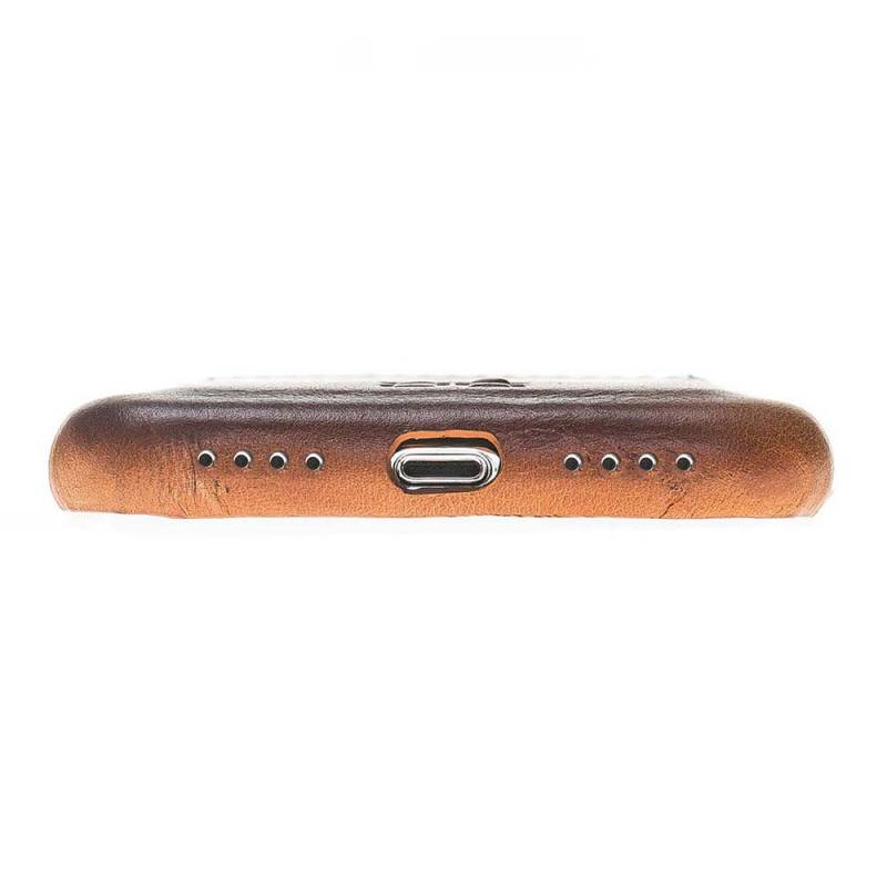Bouletta Bouletta iPhone Xr BackCover met vakjes (Burned Cognac)