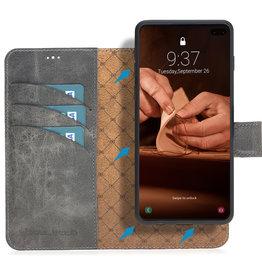 Bouletta Bouletta - Samsung Galaxy S10 - 2-in-1 Afneembare BookCase (Antique Grey)