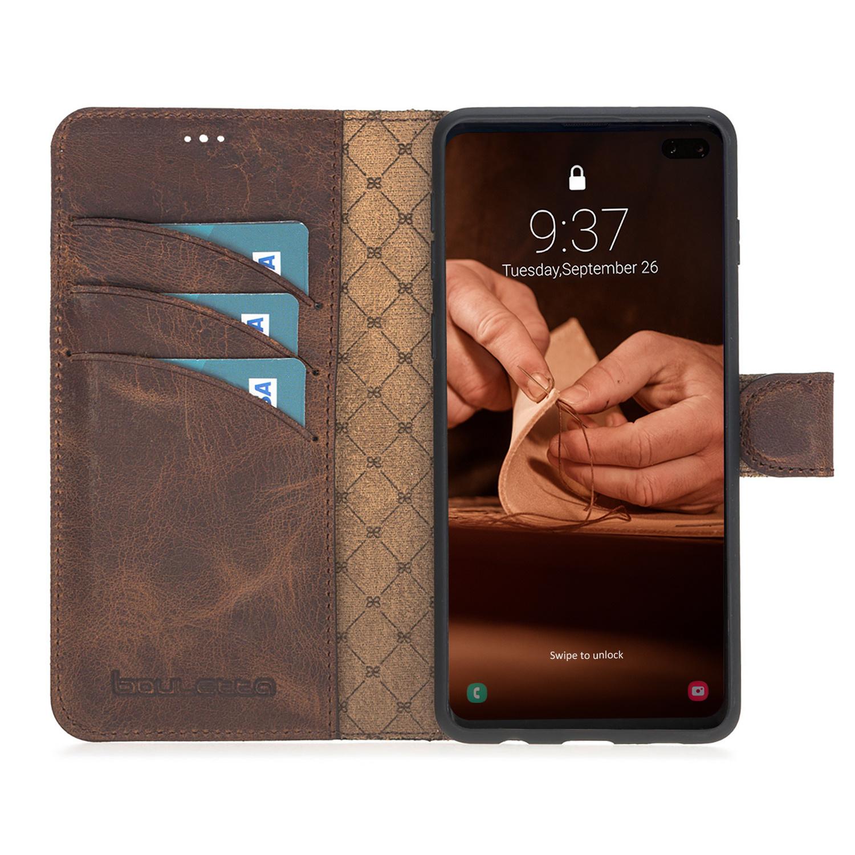 Bouletta Bouletta - Samsung Galaxy S10 - 2-in-1 Afneembare BookCase (Antic Coffee)