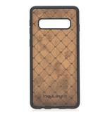 Bouletta Bouletta - Samsung Galaxy S10 - 2-in-1 Afneembare BookCase (Burned Cognac)