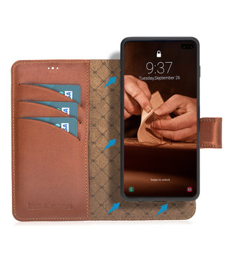Bouletta Bouletta - Samsung Galaxy S10 Plus 2-in-1 Detachable WalletCase (Burned Cognac)