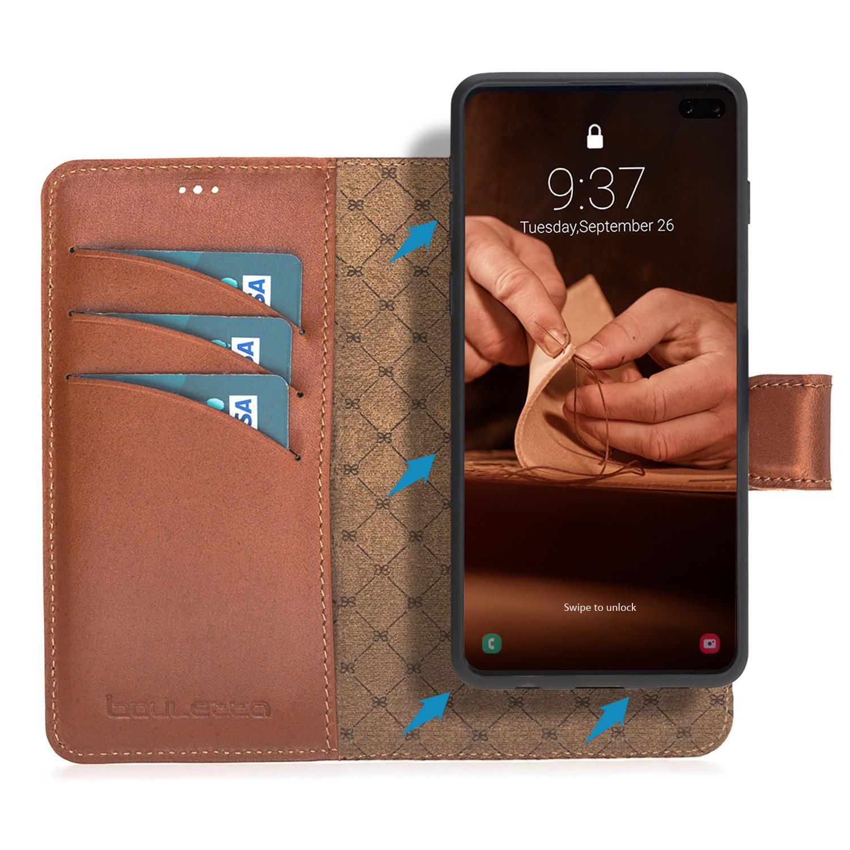 Bouletta Bouletta - Samsung Galaxy S10 Plus 2-in-1 Afneembare BookCase (Burned Cognac)