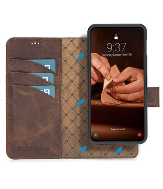 Bouletta Bouletta - Samsung Galaxy S10E  2-in-1 Abnehmbar Book Case (Antic Coffee)