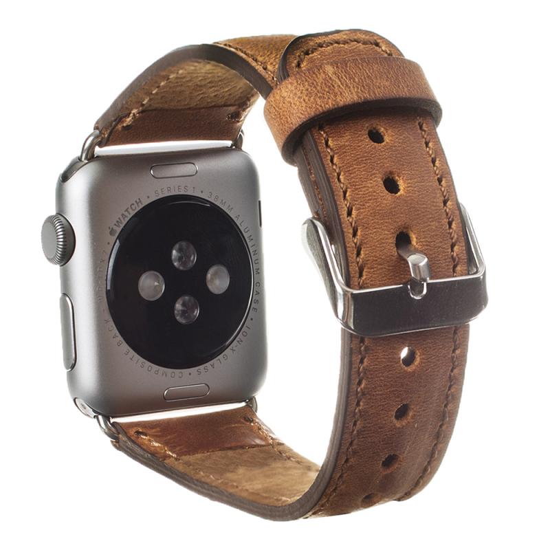 Bouletta Bouletta Classic lederen band Apple Watch 38 mm / 40 mm 'Vintage Brown'