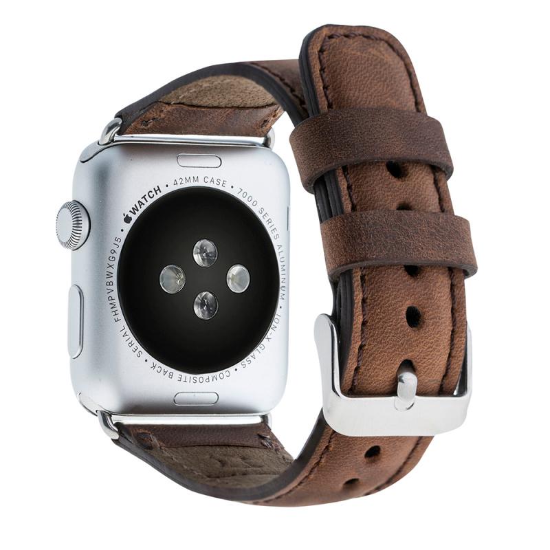 Bouletta Bouletta Classic lederen band Apple Watch 42 mm / 44 mm 'Antic Coffee'