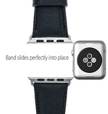 Bouletta Bouletta Classic lederen band Apple Watch 42 mm / 44 mm 'Floater Black'